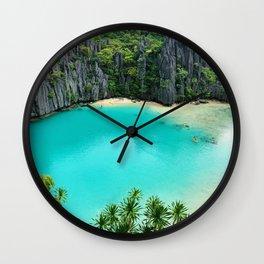 Paradise Lagoon Wall Clock