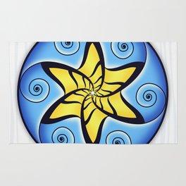 Mandala Spiral Star Rug