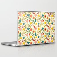 scandinavian Laptop & iPad Skins featuring Scandinavian summer by Olly Dolly Design