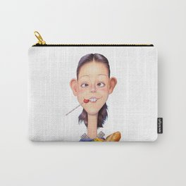 A girl holding a shopping paper bag Carry-All Pouch