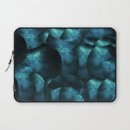 blue black abstract spherical shapes Laptop Sleeve