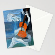 Picasso's Blue Man  Stationery Cards