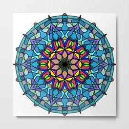 Mandala Curve beautiful. Metal Print