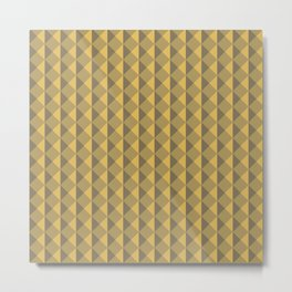 Yellow abstract geometric pattern. Pyramid. Rhombuses and triangles. Metal Print