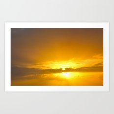 Sunset Over the Atlantic Art Print