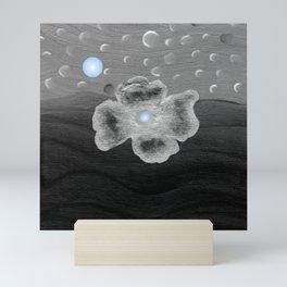 Blue Moon and poppy Mini Art Print