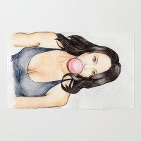 bubblegum Area & Throw Rugs featuring Bubblegum by Minky Gigi