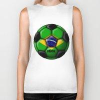 brasil Biker Tanks featuring Brasil Ball by kuuma