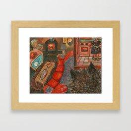 Meena Leaves A Note Framed Art Print