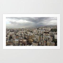 Floating over Beirut Art Print