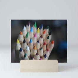 Pencil Crayon Tips Mini Art Print
