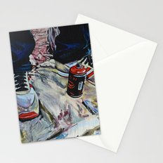 illegal street-art-worker Stationery Cards