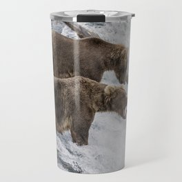 The Catch - Brown Bear vs. Salmon Travel Mug
