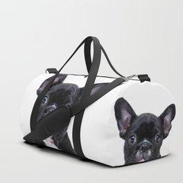 French bulldog portrait Duffle Bag