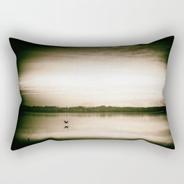 Sunset in camera obscur (2) Rectangular Pillow