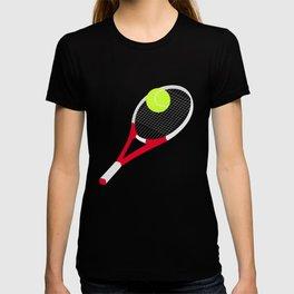 Tennis racket and tennis ball T-shirt