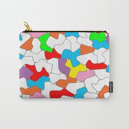 Multi-colored Shapes  Carry-All Pouch