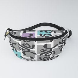 Pittsburgh Bus Seat (White)  Fanny Pack