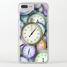 Old Times Clear iPhone Case