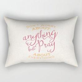 PRAYER OVER WORRY Rectangular Pillow