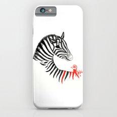 Black Zebra and Orange Bird iPhone 6s Slim Case