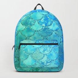 Summer Dream Colorful Trendy Mermaid Scales Backpack