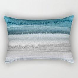 Waves on The Moon Rectangular Pillow
