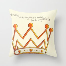 Crowns & Gin Throw Pillow