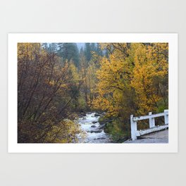 Autumn in Hope Valley Art Print