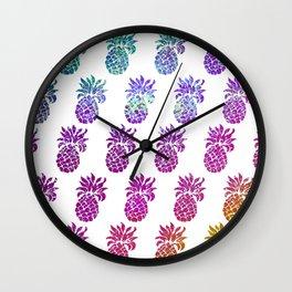 Hologram pineapples Wall Clock
