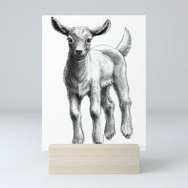 White Goat Baby SK133 Mini Art Print