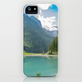 Digital Painting of a Less Popular Side of Lake Louise in Banff National Park, Alberta iPhone Case
