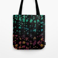gravity Tote Bags featuring Gravity  by SensualPatterns