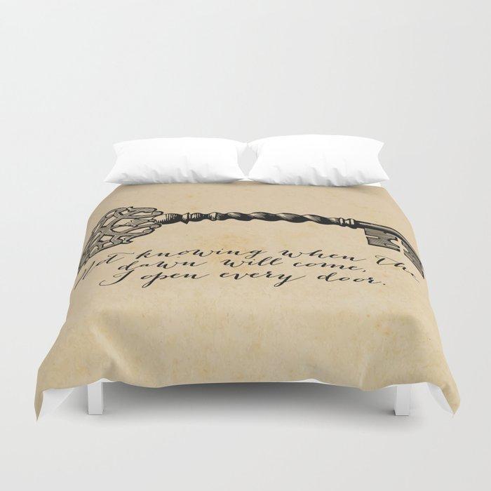 Emily Dickinson - I Open Every Door Duvet Cover