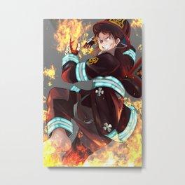 Fire Force Shinra Chibi Metal Print