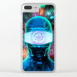 Vision 2077 Clear iPhone Case