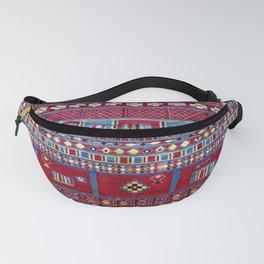 Tunisian Flatweave Antique Tribal Rug Print Fanny Pack