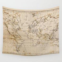 World Map 1844 Wall Tapestry