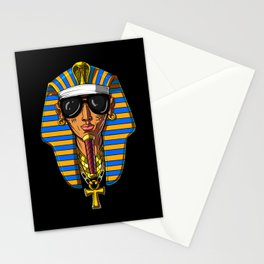 Egyptian Pharaoh Tutankhamon Gangsta King Tut Stationery Cards