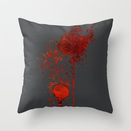 Autumn Burns Throw Pillow