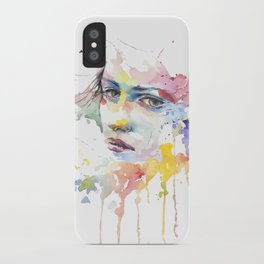 Watercolor face of Mina iPhone Case