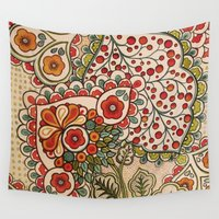 paisley Wall Tapestries featuring paisley by Love on a Bike