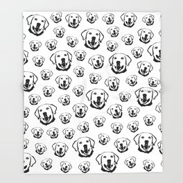 CHRISTMAS GIFTS FOR THE LABRADOR DOG LOVER FROM MONOFACES IN 2020 Throw Blanket
