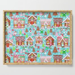 Gingerbread House Christmas Winter Candy, sweets.christmas gift, holiday gift for kids of all ages, Serving Tray