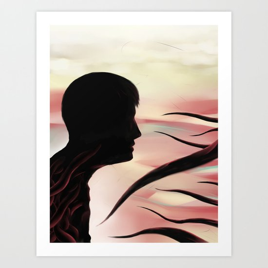 Between monsters Art Print
