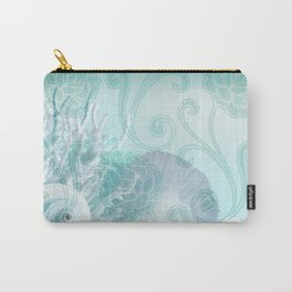 SEASHELL DREAMS | blue Carry-All Pouch