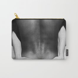 5095 The Squeeze | White Hug Black Embrace | Nude Carry-All Pouch