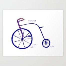 Little Red Bike Art Print