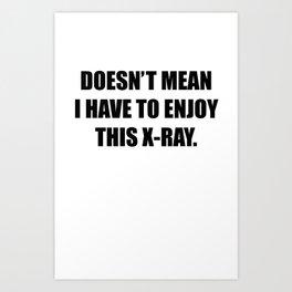 X-Ray Shirt Art Print