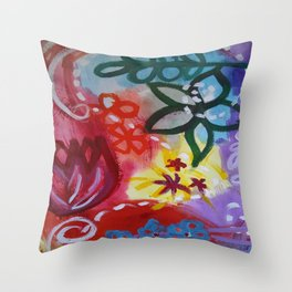 Dreamin' in Florals Throw Pillow